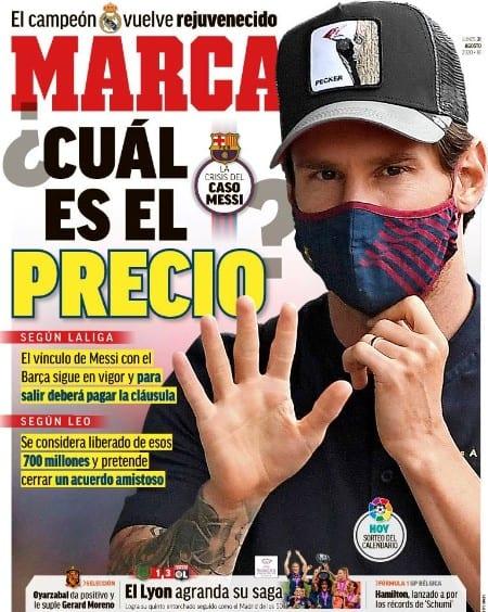 Portada Marca Messi precio