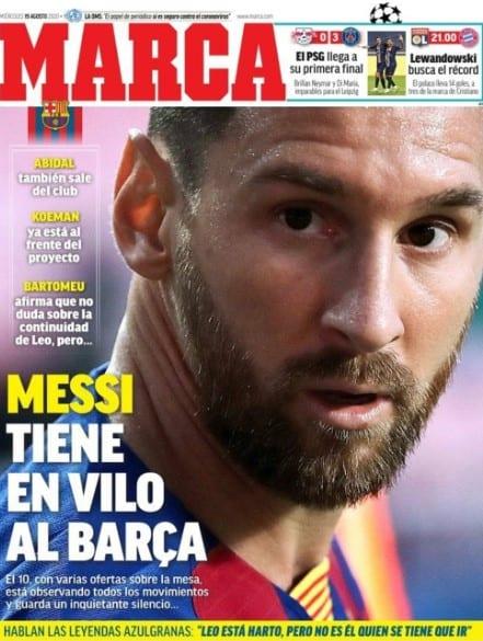Portada Marca marcha Messi