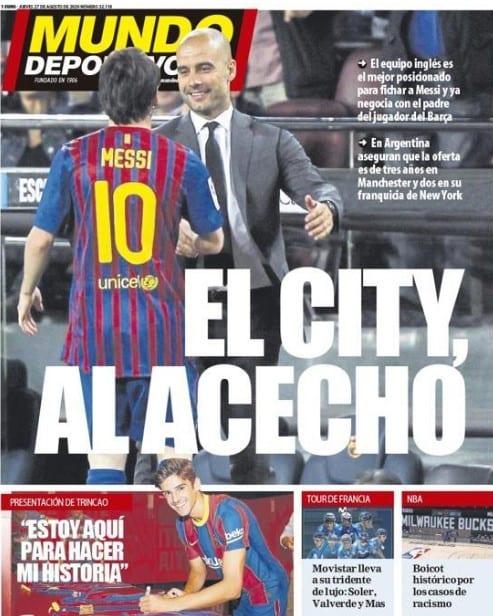 Portada Mundo Deportivo Manchester City