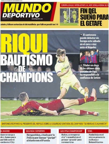 Riqui Puig debuta en Champions