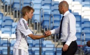 Odegaard y Zidane