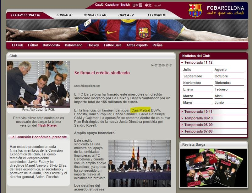 Crédito sindicado Barça