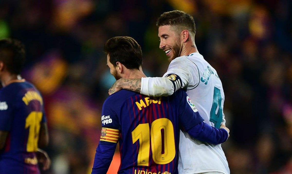 Sergio Ramos y Messi