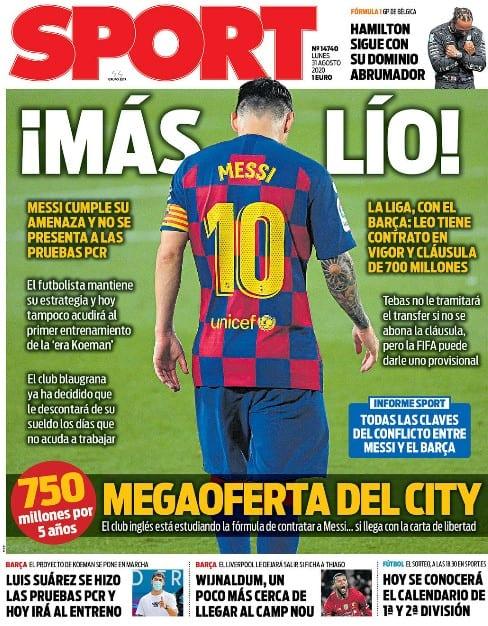 Portada Sport Messi Oferta City