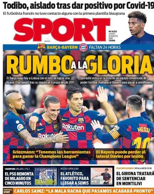 Portada Sport Barça Champions