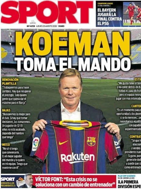 Portada Sport Koeman mando