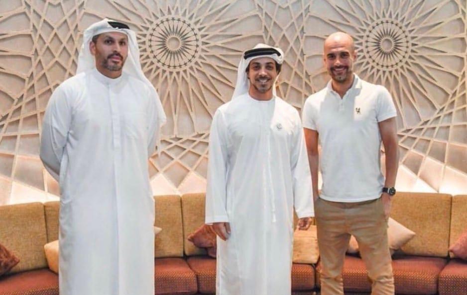 Guardiola en Abu Dhabi.