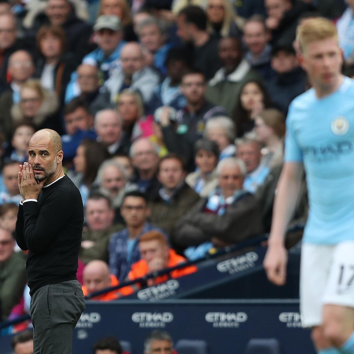 Guardiola durante un partido.
