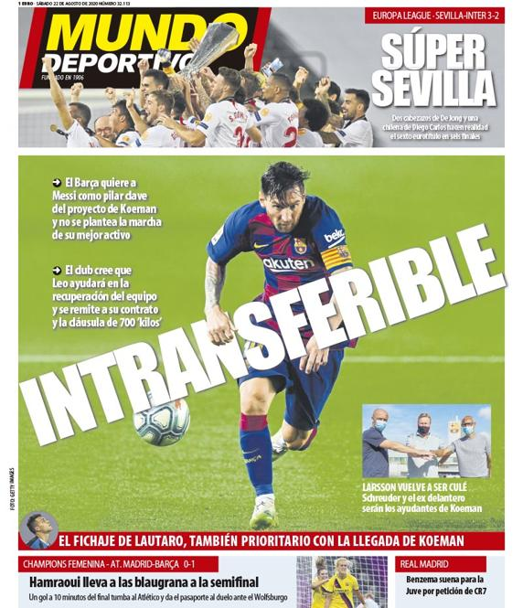 Portada Mundo Deportivo Messi