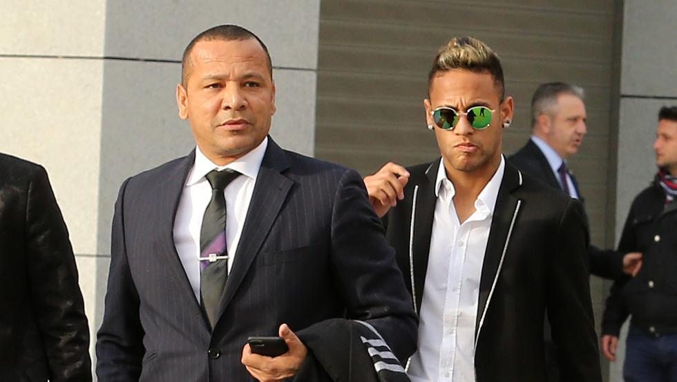 Neymar Sr. y Neymar Jr.