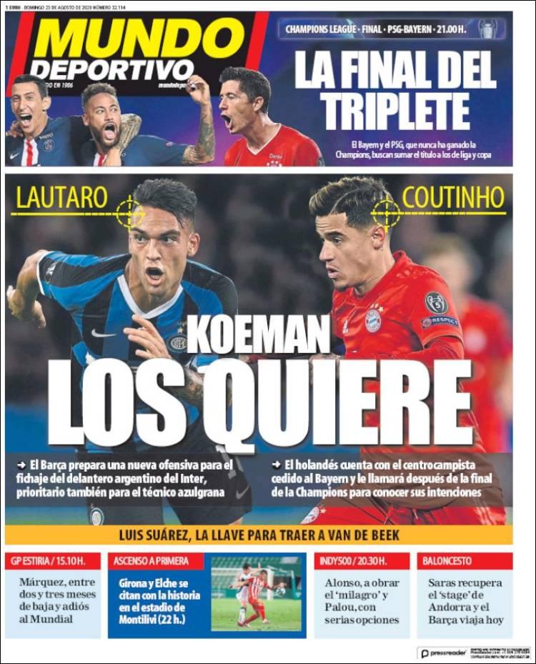 Portada Mundo Deportivo.