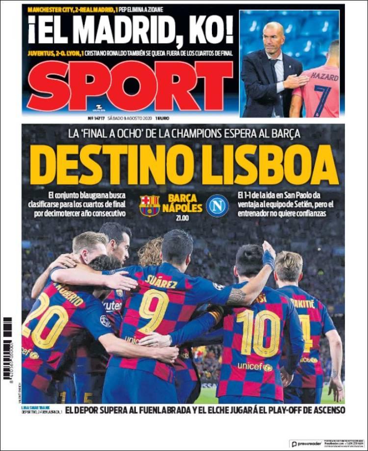 portada sport el madrid ko