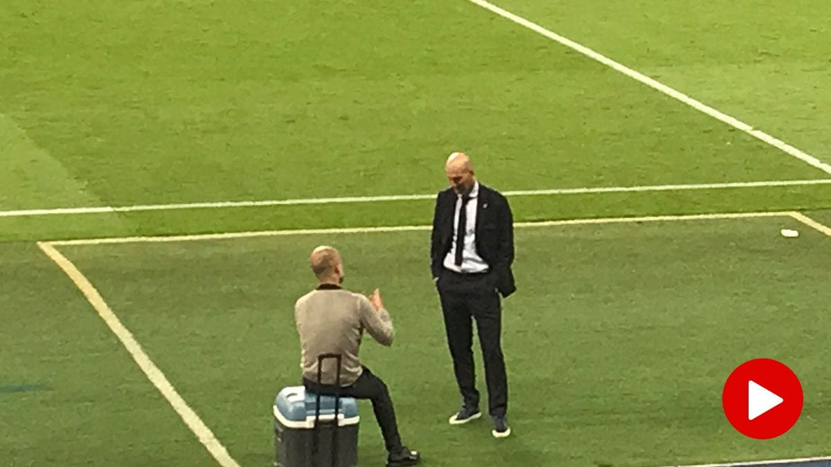 guardiola zidane despues partido