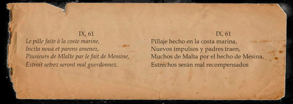 Profecía Nostradamus