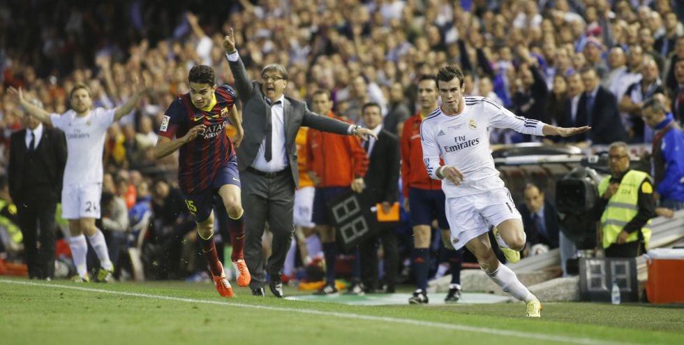 Gareth Bale en la Copa del Rey.