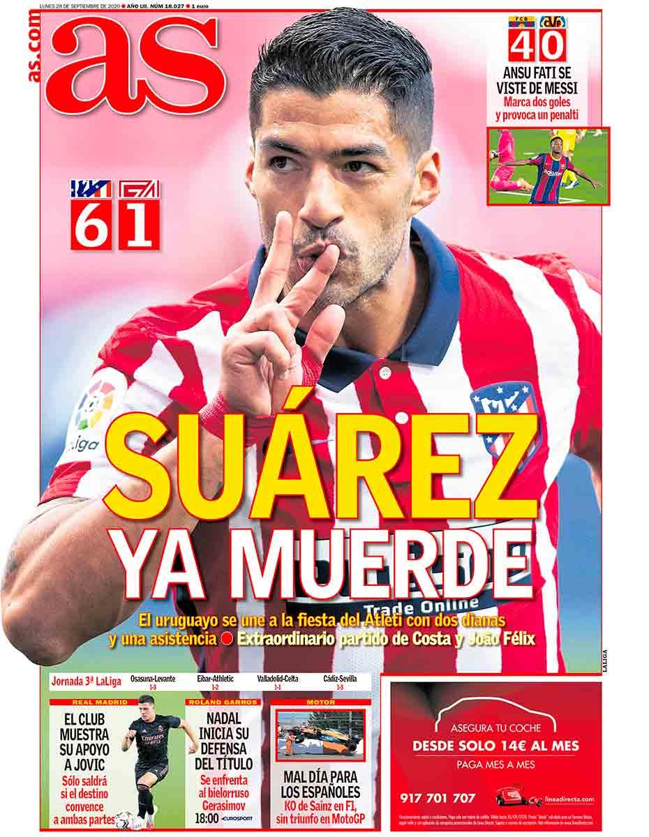 Portada AS Suárez ya muerde