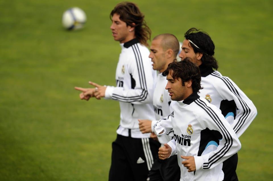 Ramos, Cannavaro, Parejo y Raúl.