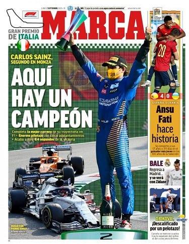 Portada Marca Carlos Sainz
