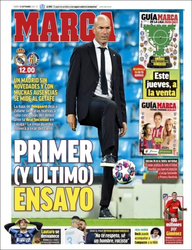 Portada Marca primer ensayo Zidane