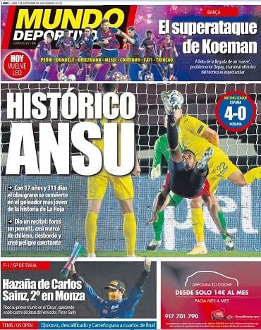 Portada Mundo Deportivo Ansu Fati España