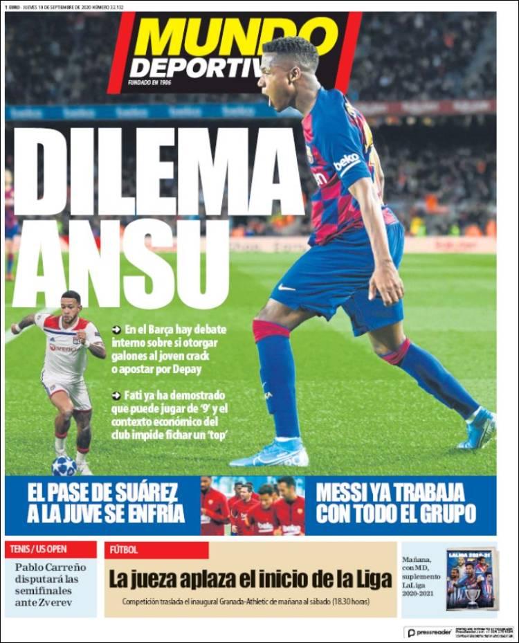 Mundo Deportivo Dilema Ansu
