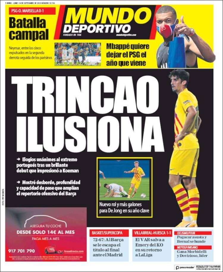 Portada Mundo Deportivo Trincao ilusiona