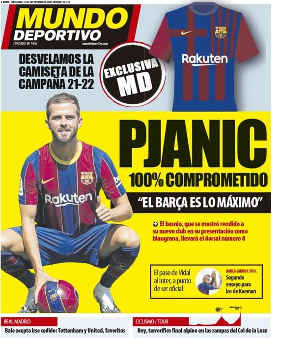 Portada Mundo Deportivo Pjanic presentación