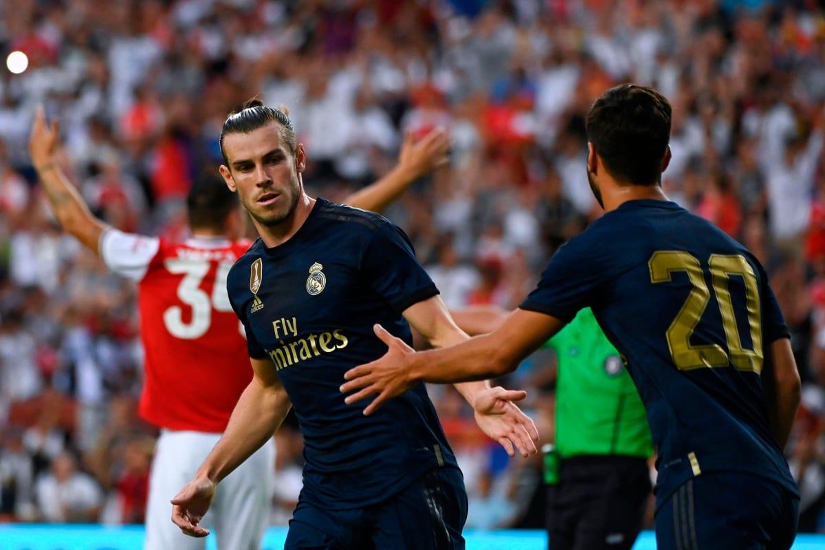 Gareth Bale durante un partido.