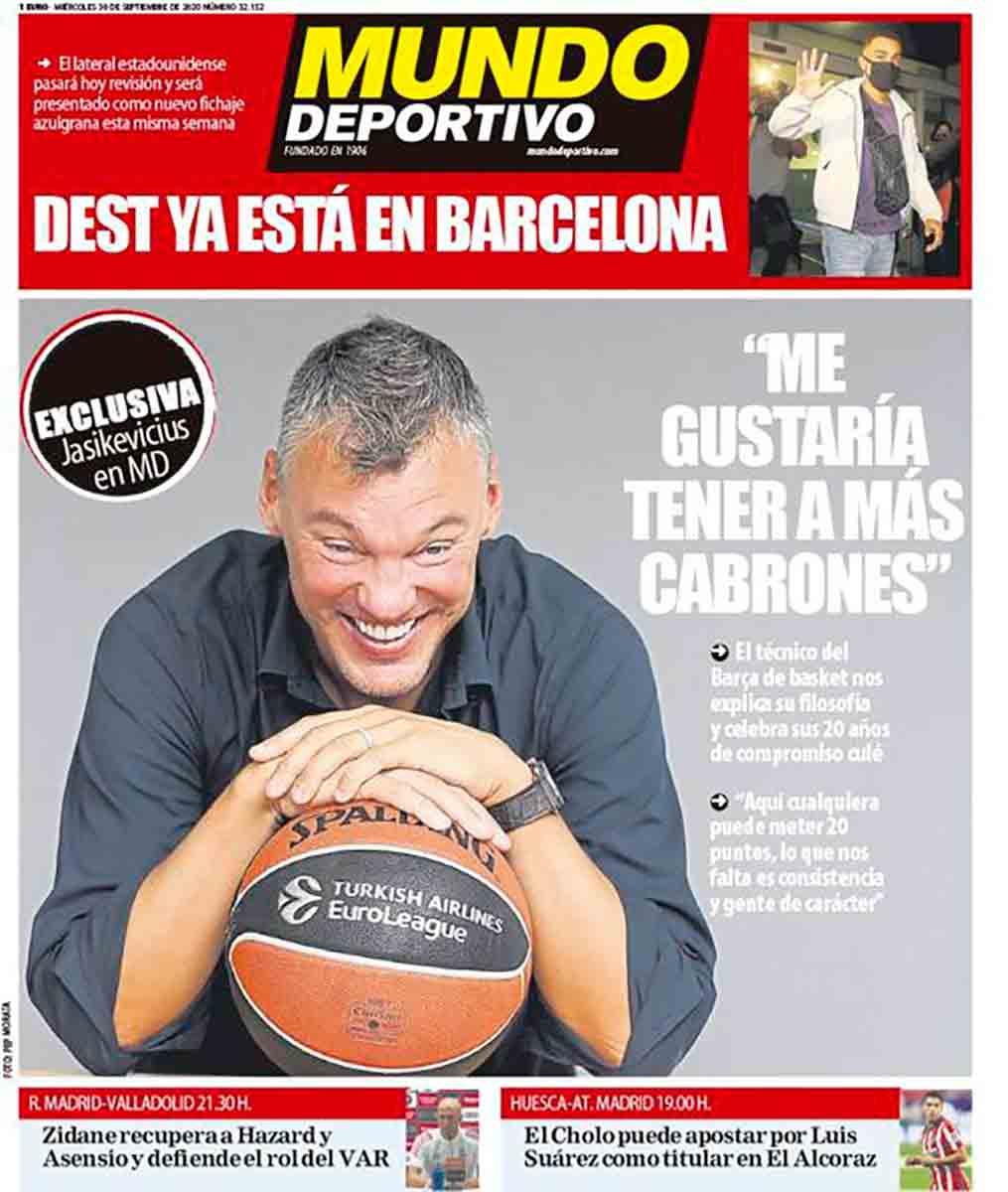 Portada Mundo Deportivo Jasikevicius