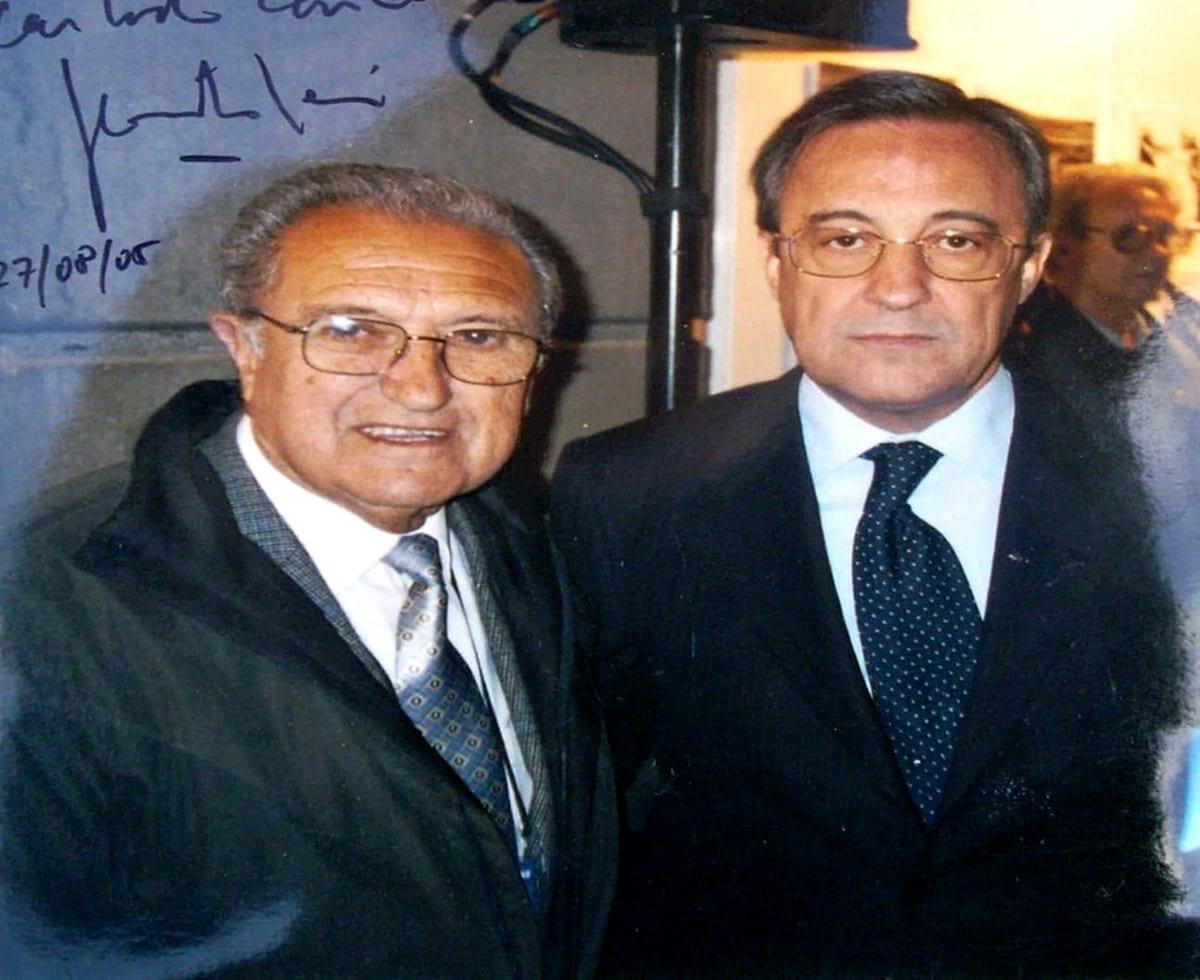 Rafael Verdú con Florentino Pérez