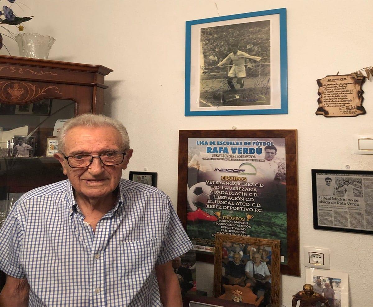 Rafael Verdú en su casa de Xerez