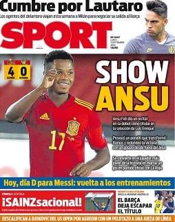 Portada Sport Ansu Fati Show