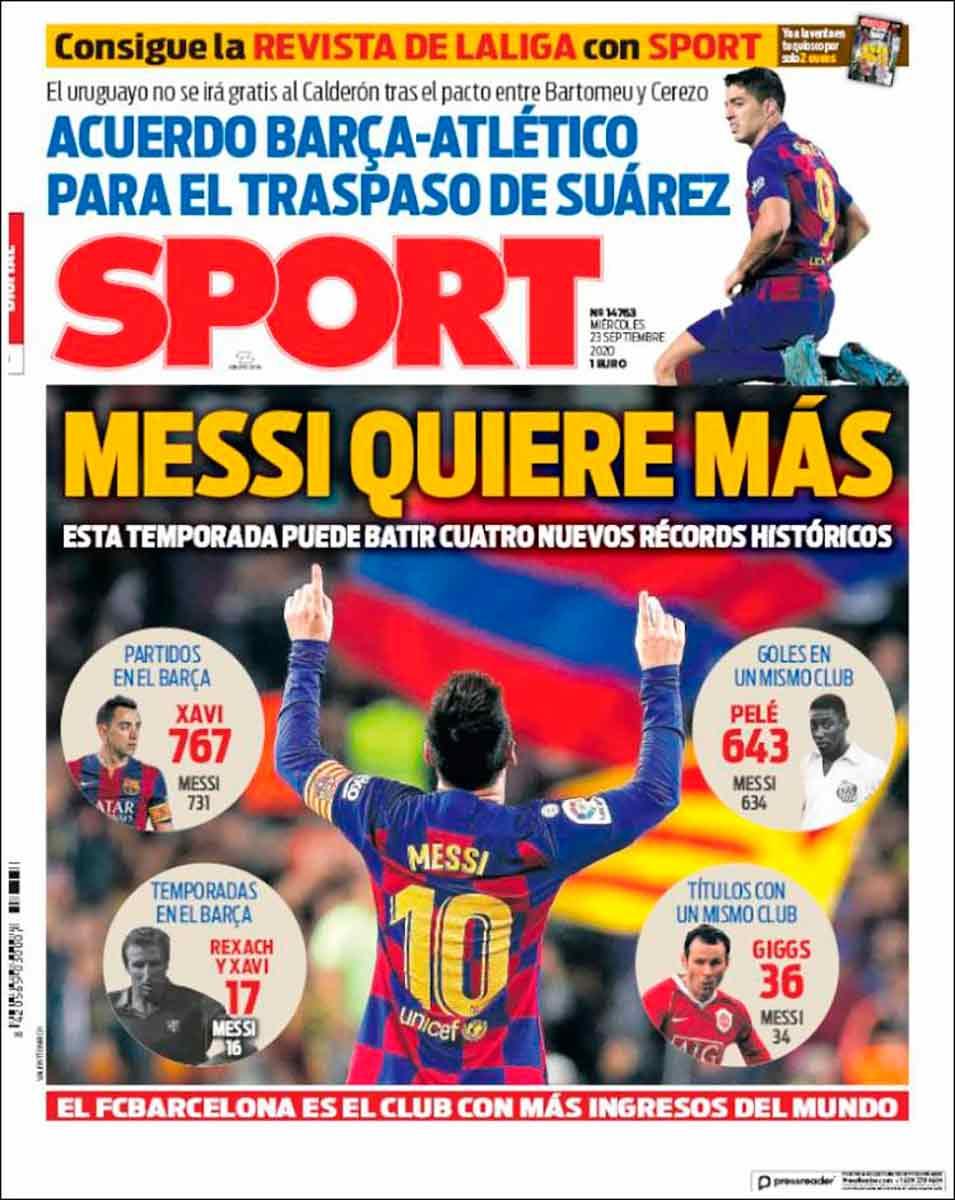 Porta Sport Messi quiere más