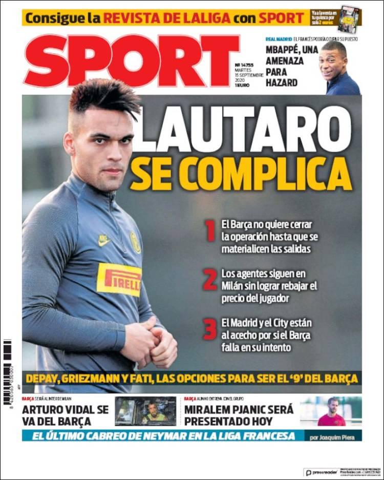 Portada Sport Lautaro se complica
