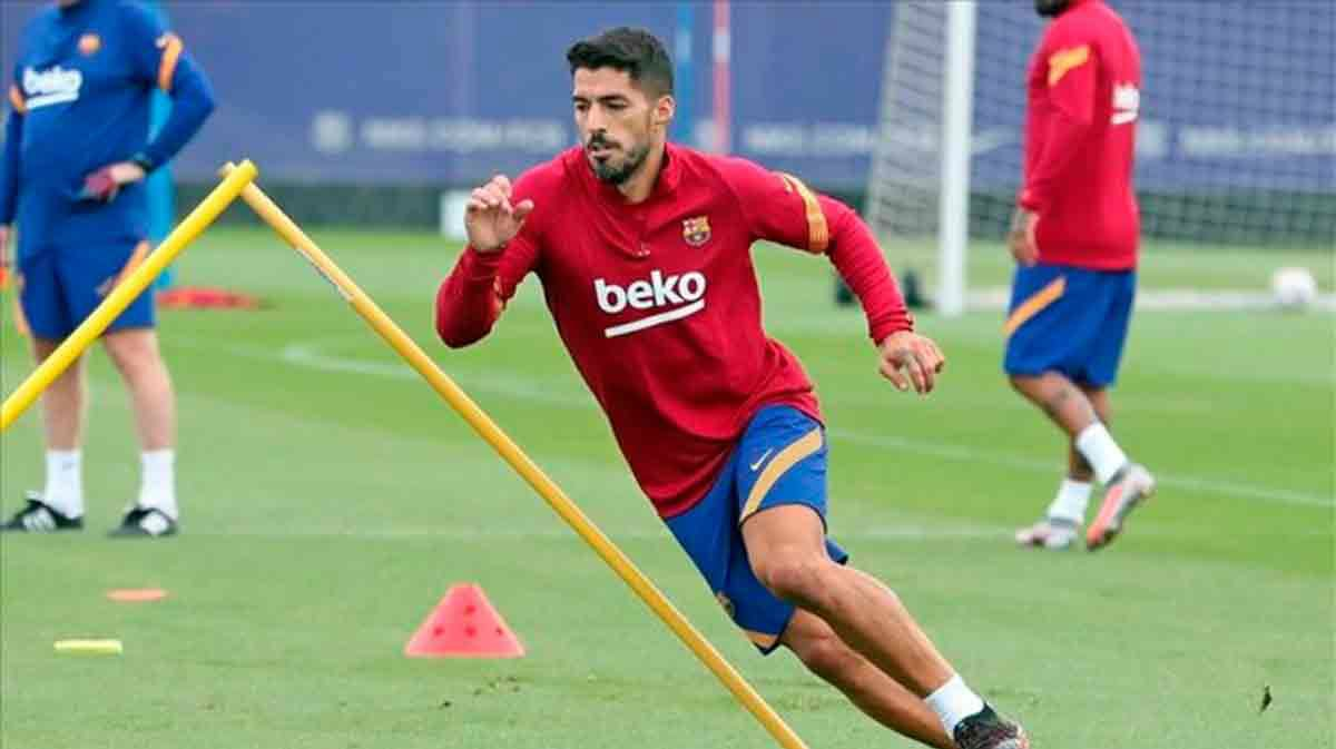 Suárez entrenamiento Barça