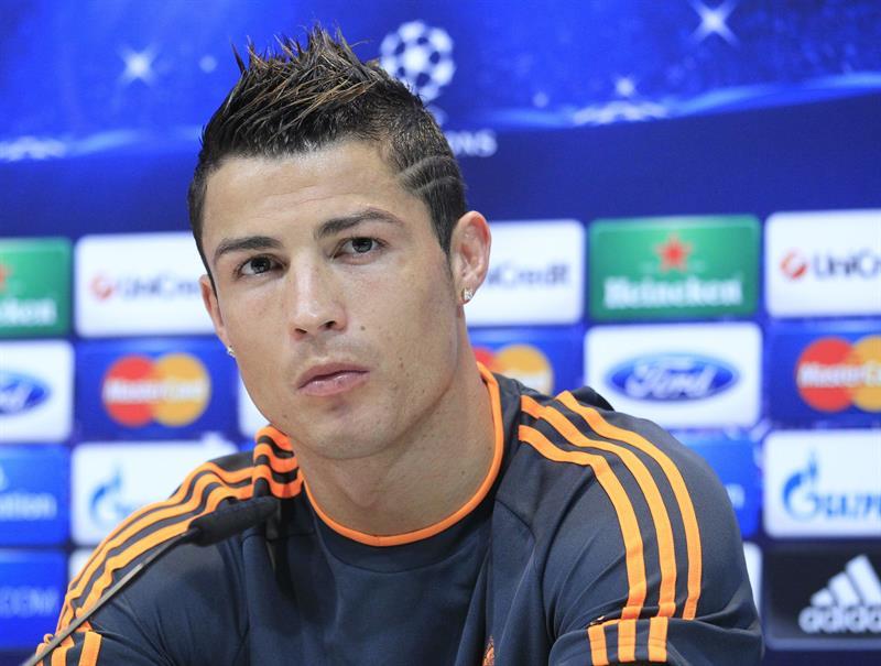 Cristiano Ronaldo en rueda de prensa.