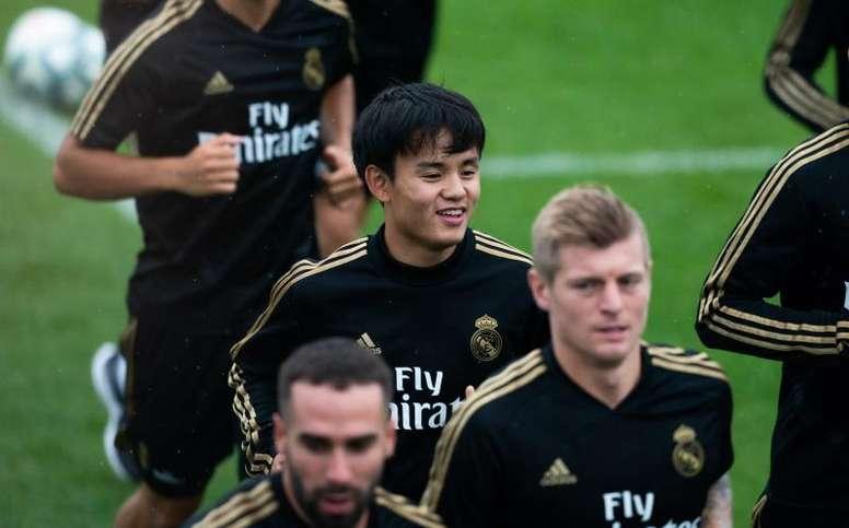 Take Kubo con el Real Madrid.