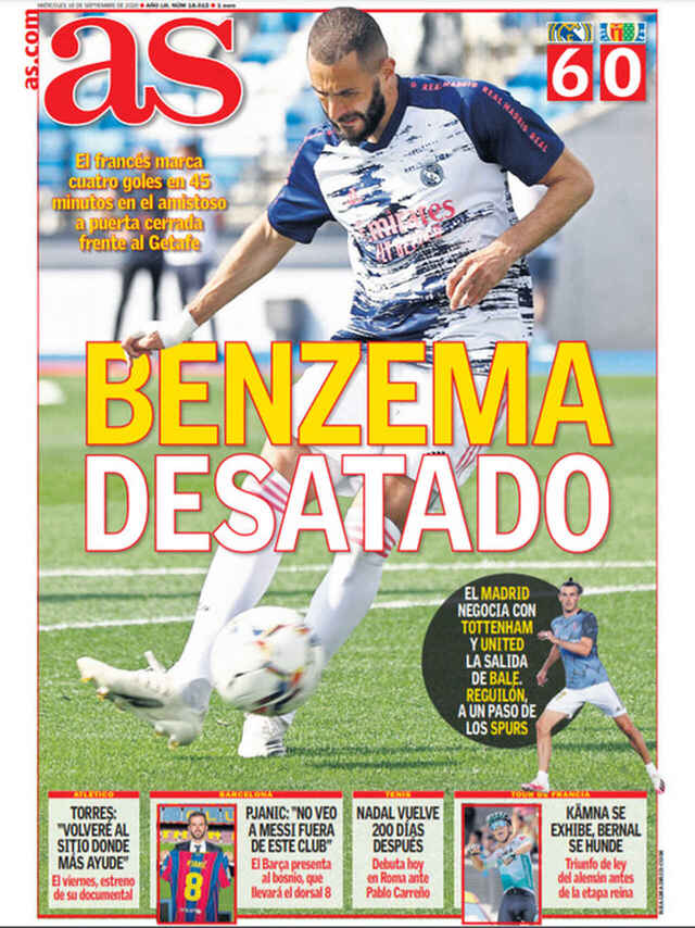 Portada AS Benzema desatado