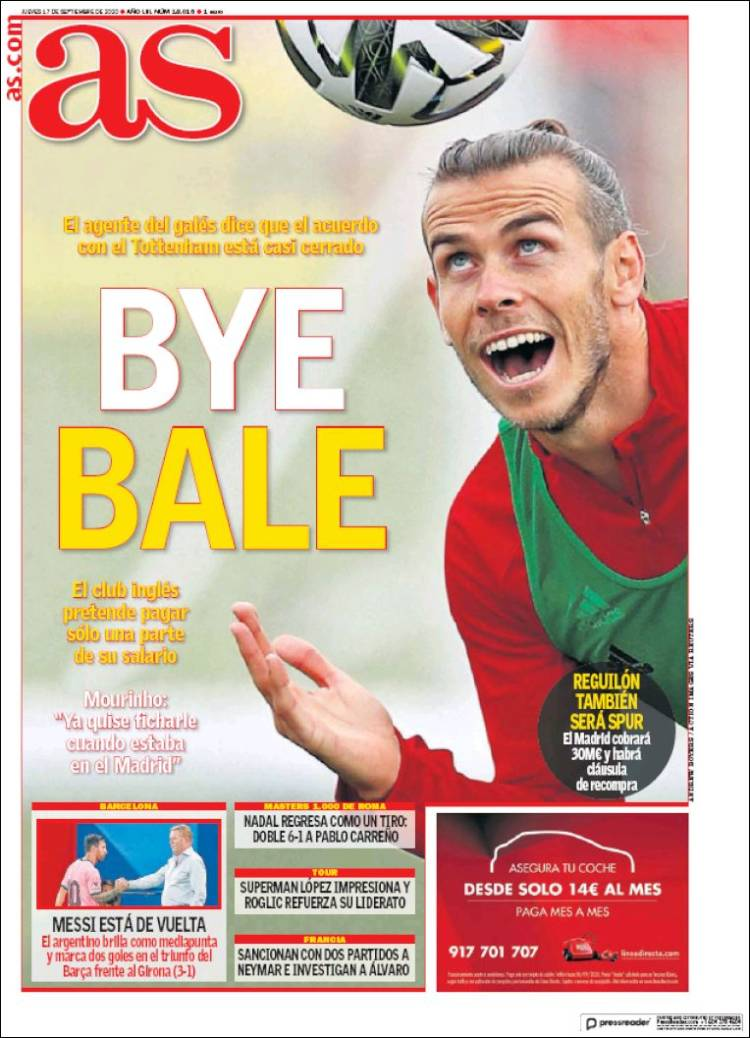 Portada AS Bye Bale