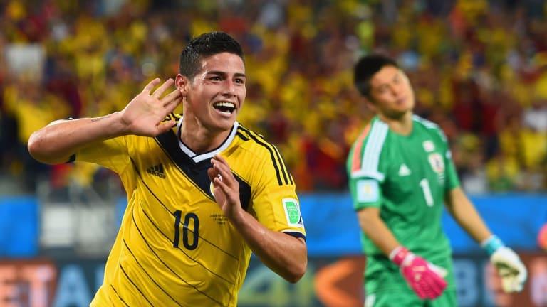 James Rodríguez en la Copa del Mundo 2014.