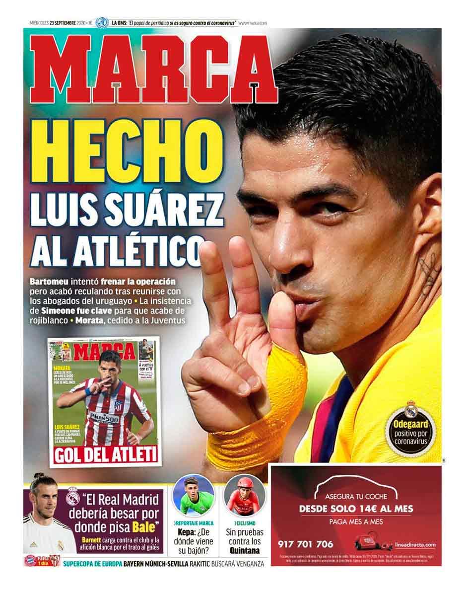 Portada Marca Suárez fichaje Atleti