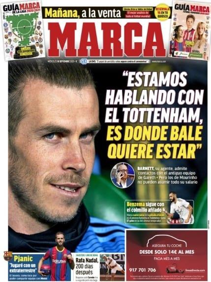 Portada Marca Bale Tottenham