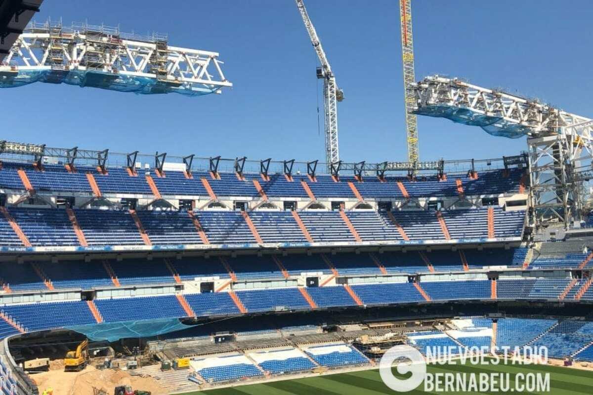 Obras del Santiago Bernabéu.