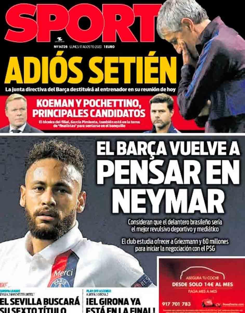 Adiós Setién Hola Neymar