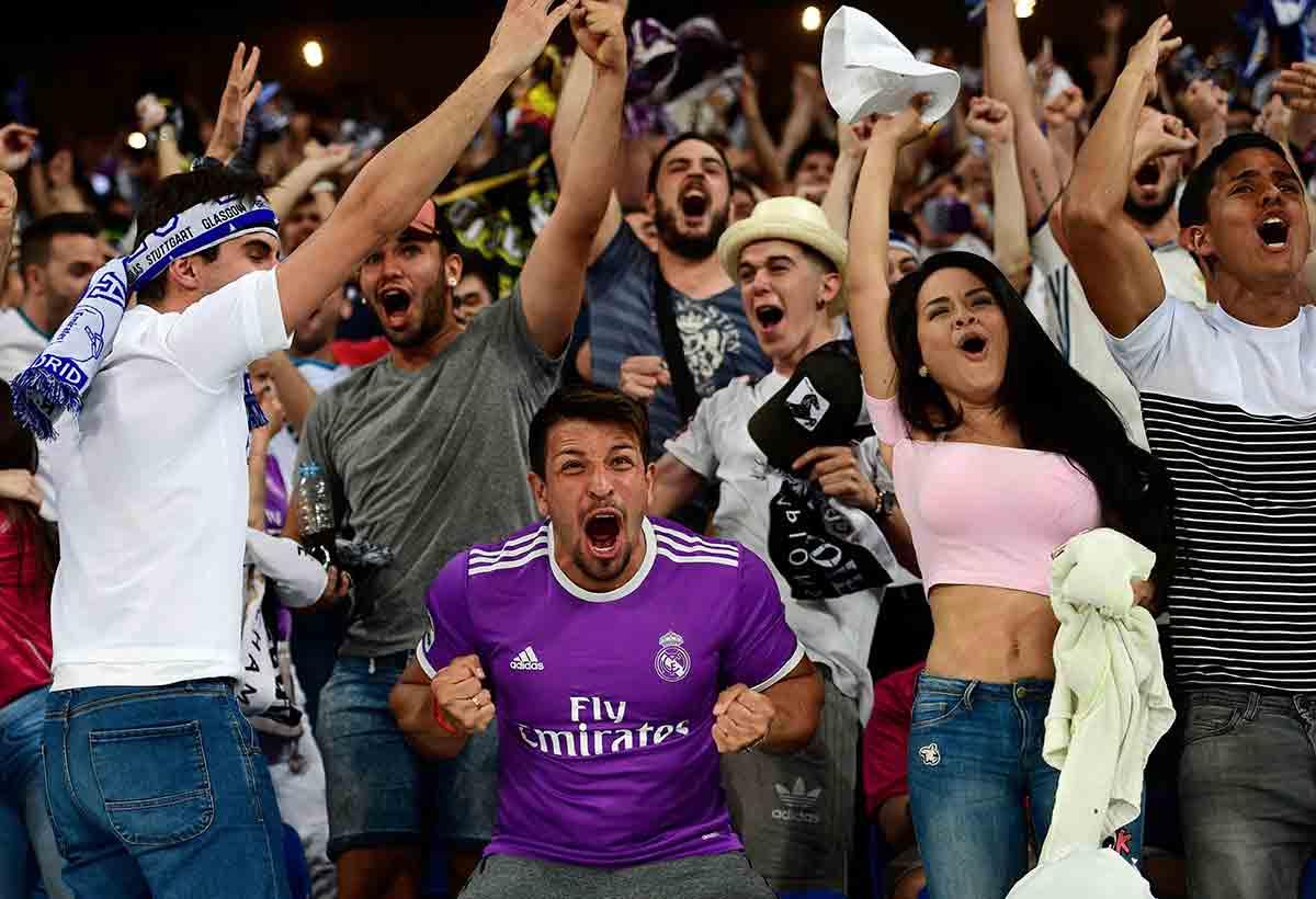 Aficionados Real Madrid alegría