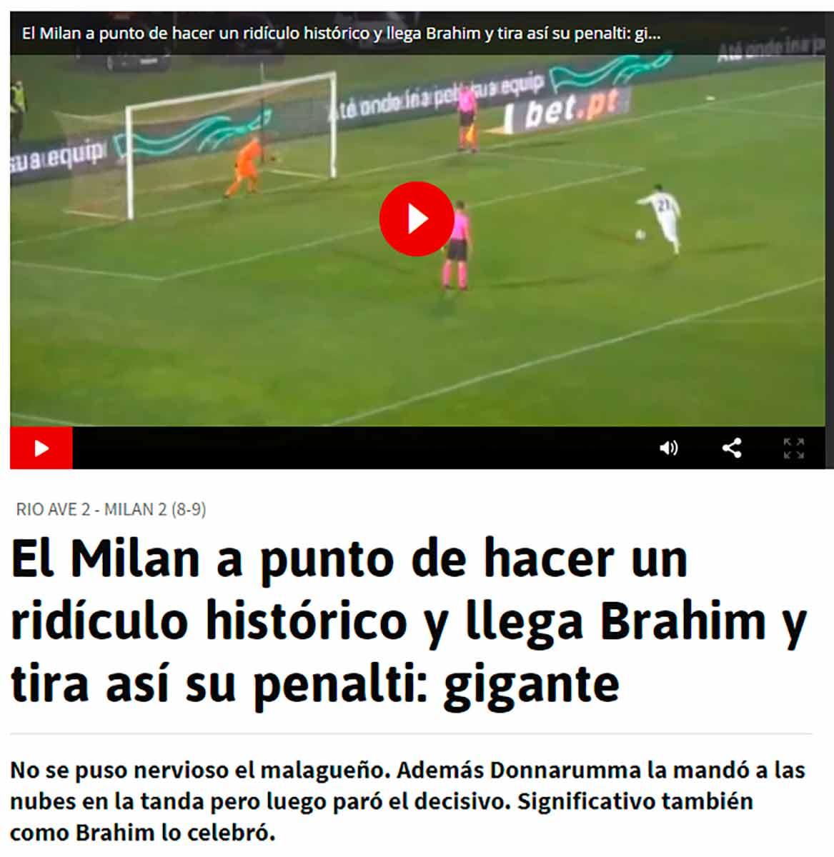 Brahim penalti Milan