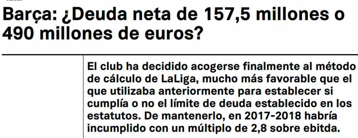Barça deuda
