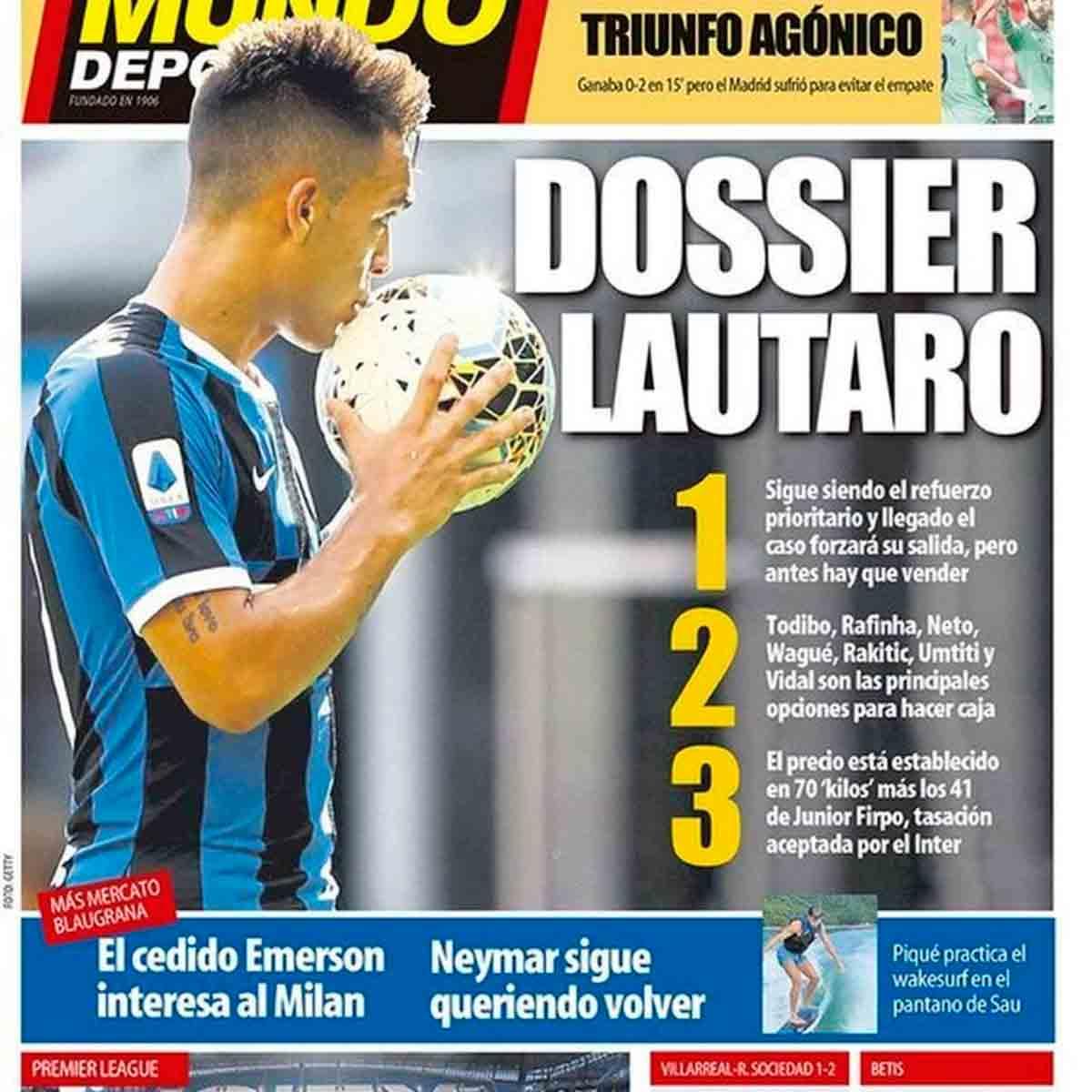 Portada Mundo Deportivo Dossier Lautaro