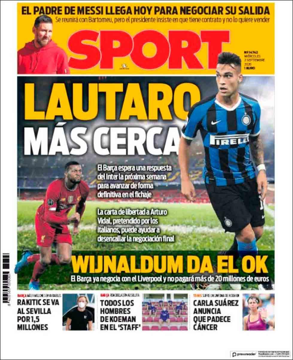 Portada Sport Lautaro más cerca