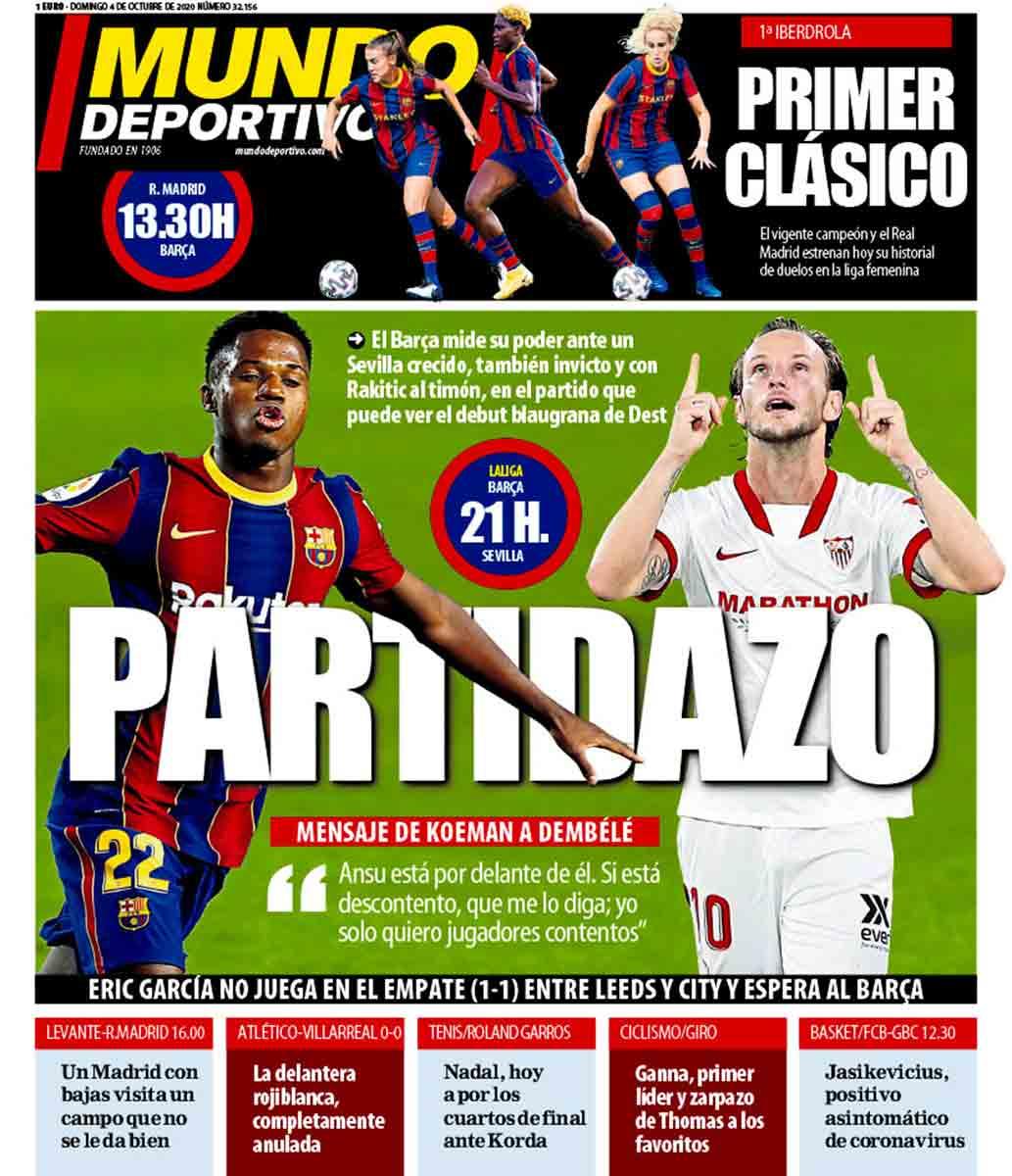 Portada Mundo Deportivo Barça Sevilla